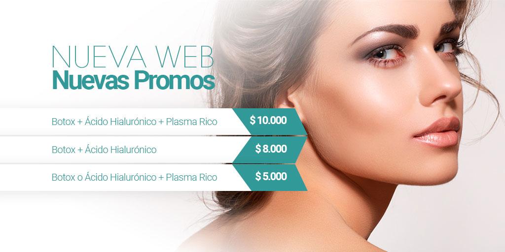 Promocion Botox, Acido Hialuronico y Plasma Rico en Plaquetas