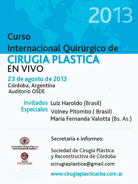 Curso Internacional Cirugia Plastica Cordoba 2013