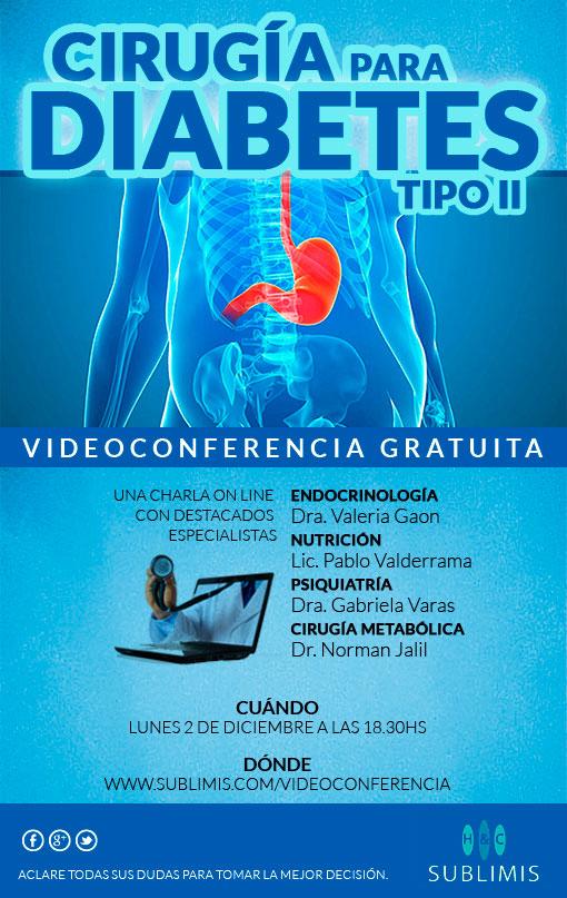 Videoconferencia Gratuita sobre Cirugía de la Diabetes Tipo II